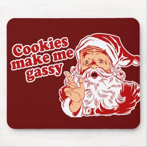 Cookies Make Santa Gassy Mousepad