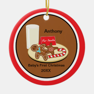 Cookies & Milk Baby's 1st Christmas Ornament