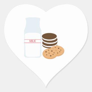 Cookies Milk Heart Sticker