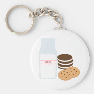 Cookies Milk Basic Round Button Keychain