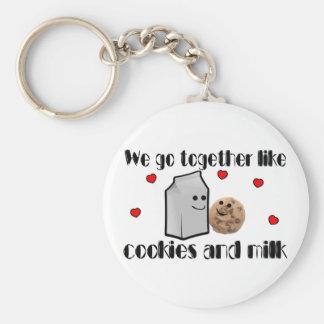 Cookies & Milk Basic Round Button Keychain