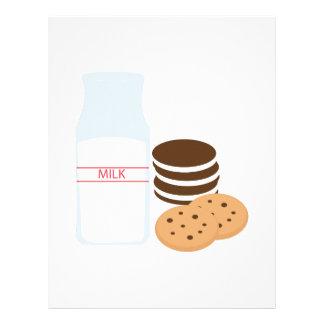 Cookies Milk Letterhead Template
