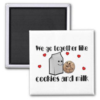 Cookies & Milk Love 2 Inch Square Magnet