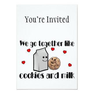 Cookies & Milk Love Personalized Invites