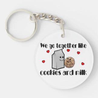 Cookies & Milk Love Keychain
