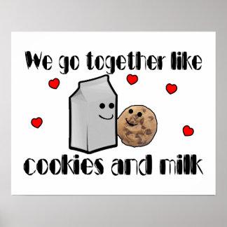 Cookies & Milk Love Posters