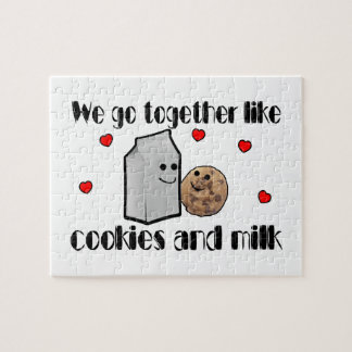 Cookies & Milk Love Jigsaw Puzzle