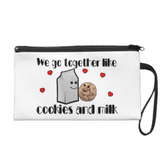 Cookies & Milk Love Wristlet Purse