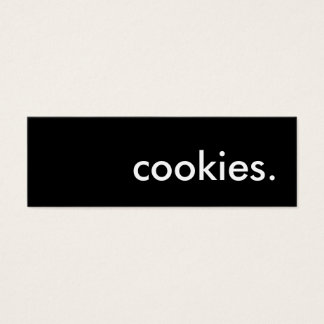 cookies. mini business card