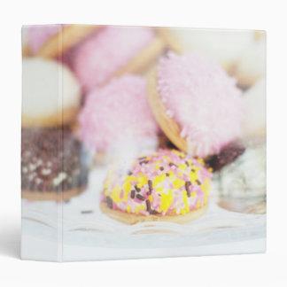Cookies on table binder