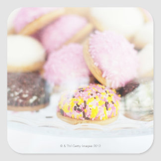 Cookies on table square sticker