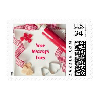 Cookies Rolling Pin Candy Heart Personalized Postage