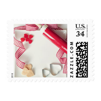 Cookies Rolling Pin Candy Heart Valentine Stamp