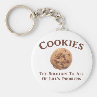 Cookies solve Problems Basic Round Button Keychain