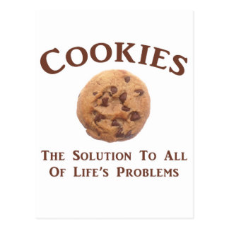 Cookies solve Problems Postcard