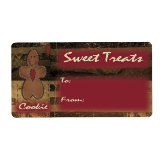 Cookies Treats Gingerbread Gift Tag