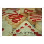 Cookies with red icing I'm Having A Party Invitati Announcement