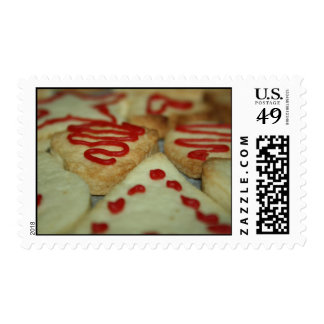 Cookies with red icing Postage