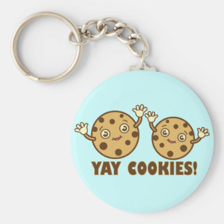 Cookies, Yay Basic Round Button Keychain