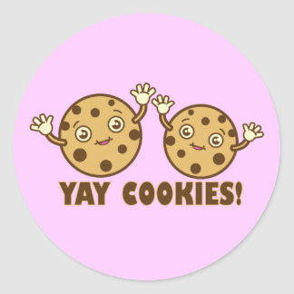 Cookies, Yay Classic Round Sticker