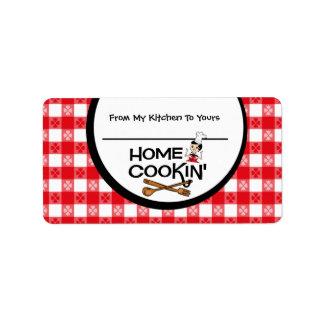 Cookin casero personalizó la etiqueta de la comida etiqueta de dirección