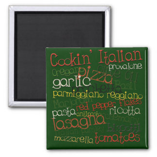 Cookin Italian 2 Inch Square Magnet