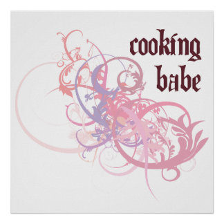 Cooking Babe Posters