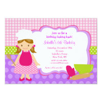 Cooking Baking Birthday Party Invitations