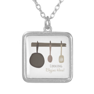 Cooking Begins Here! Necklace