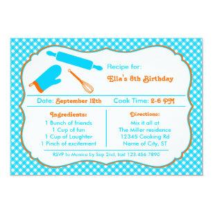 Invitation private Recipe Recipe Invitation Card Birthday Birthday Card e10