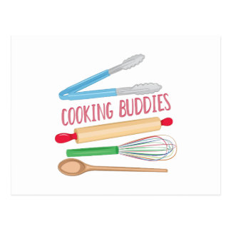 Cooking Buddies Postcard