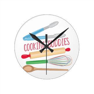 Cooking Buddies Round Clock