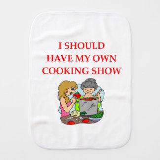 cooking burp cloth