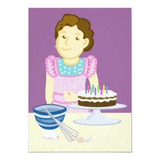 Cooking cake 13 cm x 18 cm invitation card