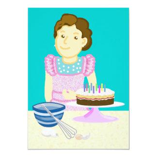 Cooking cake card
