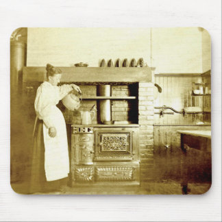 Cooking Coffee Antique Photo Mousepad
