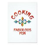 Cooking Fabulous Fun 5x7 Paper Invitation Card