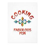 Cooking Fabulous Fun Custom Invites