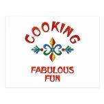 Cooking Fabulous Fun Postcard