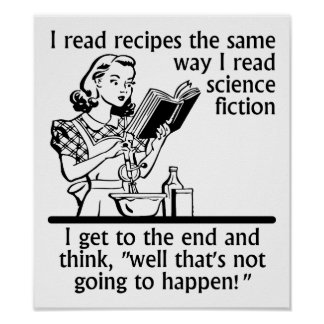 Cooking Fiction Funny Poster