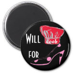 Cooking for High Heel Shoes 2 Inch Round Magnet