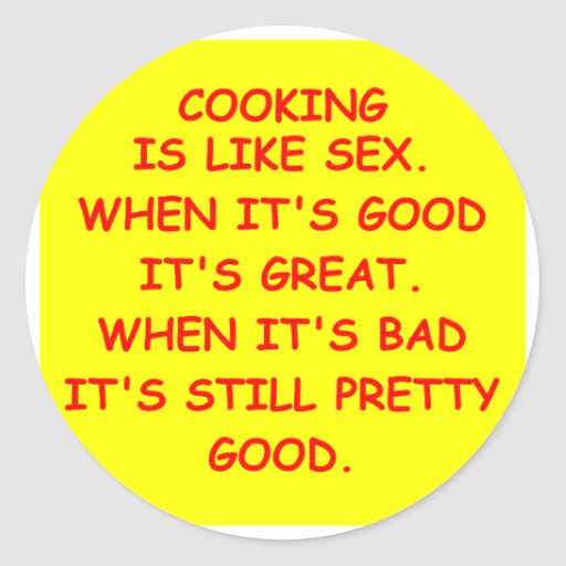 cooking gifts classic round sticker