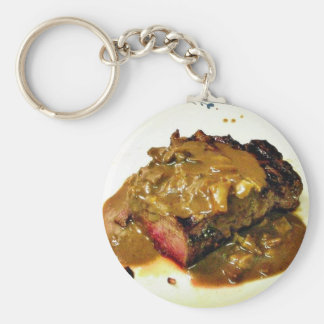 Cooking Grilled Steaks Food Keychains