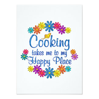 Cooking Happy Place Invitations