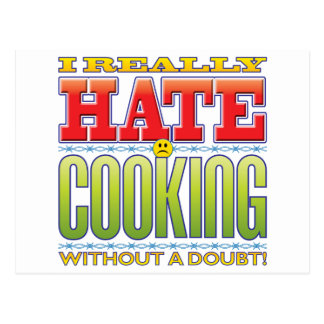 Cooking Hate Face Post Cards