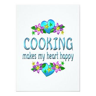 Cooking Heart Happy Invitation