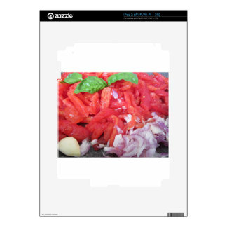 Cooking homemade tomato sauce using tomatoes iPad 2 decals