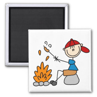 Cooking Hot Dogs Campire Magnet