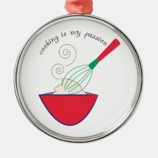 Cooking In My Passion Metal Ornament