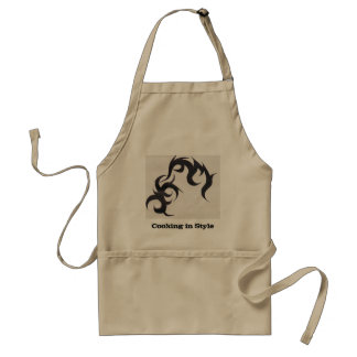 Cooking in Style-Tribal Tattoo Adult Apron